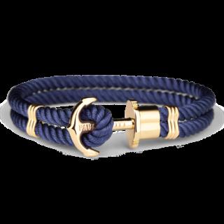Złocona bransoleta z nylonu niebieska biżuteria klejnotkielce.pl
