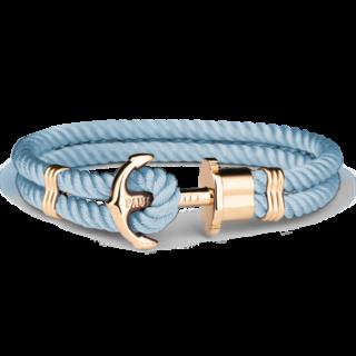 Złocona bransoleta z nylonu jasno niebieska biżuteria klejnotkielce.pl