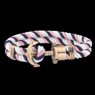 Bransoleta z nylonu niebiesko różowo biała biżuteria klejnotkielce.pl