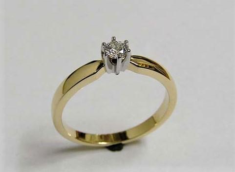 pierścionek z brylantem Pierścionek U0033