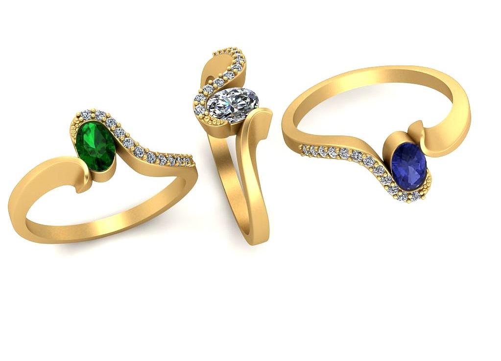 pierścionek z kamieniem naturalnym Pierścionek U0033